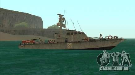 Barco militar de CODMW3 para GTA San Andreas
