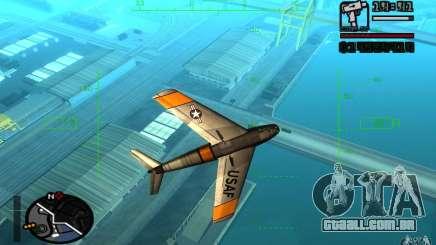 F 86 Sabre para GTA San Andreas