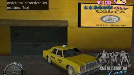 Ford Crown Victoria LTD 1985 Taxi para GTA Vice City