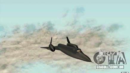 SR-71A BLACKBIRD BETA para GTA San Andreas
