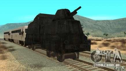 Trem blindado alemão do mundo segundo para GTA San Andreas