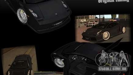 Lamborghini Gallardo чёрный para GTA San Andreas