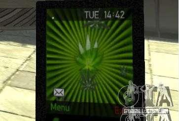 Ganja PhoneCell Theme v2 para GTA 4