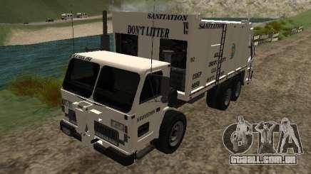 Caminhão de lixo do GTA 4 para GTA San Andreas