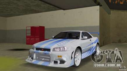 Nissan Skyline R-34 2Fast2Furious para GTA Vice City