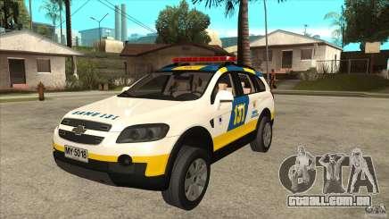 Chevrolet Captiva Police para GTA San Andreas