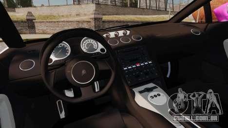 Lamborghini Gallardo 2005 [EPM] Pink Camo para GTA 4 vista interior