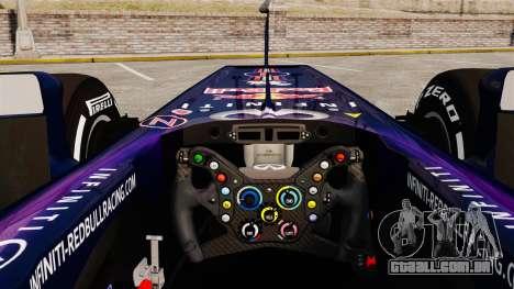 Carro, Red Bull RB9 v4 para GTA 4 vista de volta
