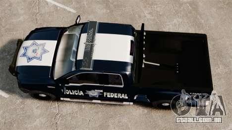 Ford F-150 De La Policia Federal [ELS & EPM] v3 para GTA 4 vista direita