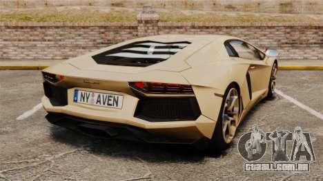 Lamborghini Aventador LP700-4 2012 v2.0 para GTA 4 traseira esquerda vista