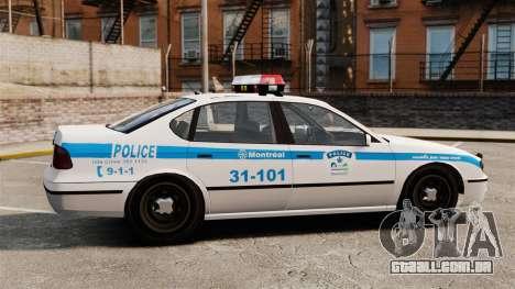 Montreal Polícia v2 para GTA 4 esquerda vista