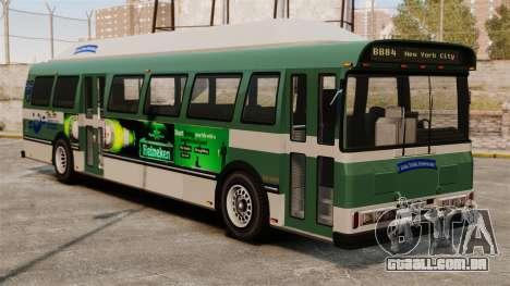O novo anúncio no ônibus para GTA 4 traseira esquerda vista