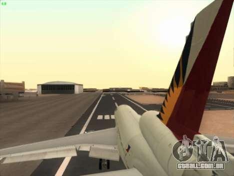 McDonell Douglas DC-10 Philippines Airlines para GTA San Andreas vista superior