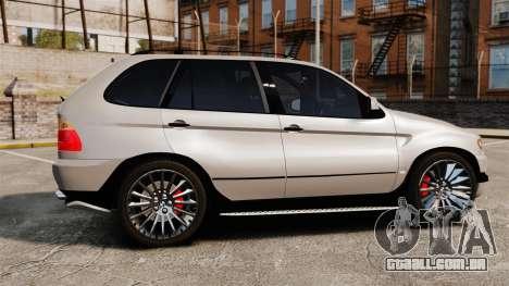 BMW X5 4.8iS v2 para GTA 4 esquerda vista