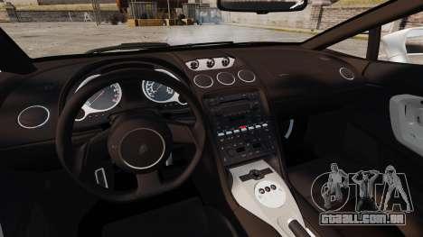 Lamborghini Gallardo 2005 [EPM] Italian para GTA 4 vista interior