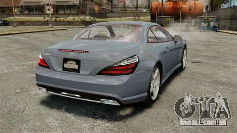 Mercedes-Benz SL500 2013 para GTA 4 traseira esquerda vista