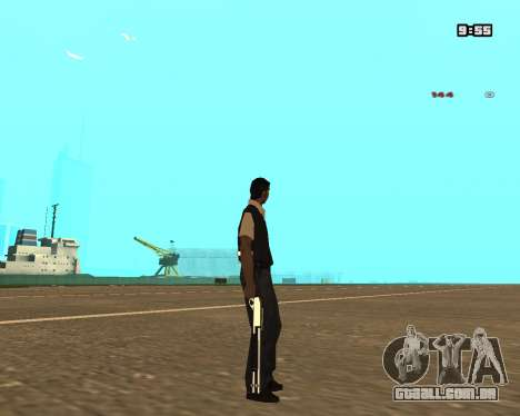 White Chrome Shotgun para GTA San Andreas