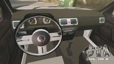 Volkswagen Citi Golf Velociti 2008 para GTA 4 vista interior