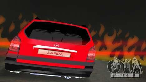 Opel Zafira para GTA Vice City vista traseira