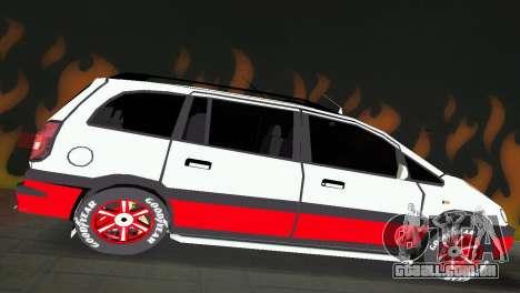 Opel Zafira para GTA Vice City vista direita