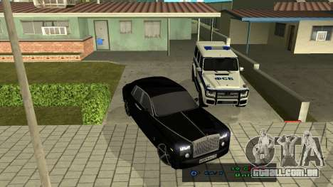 Rolls-Royce Phantom para GTA San Andreas vista interior