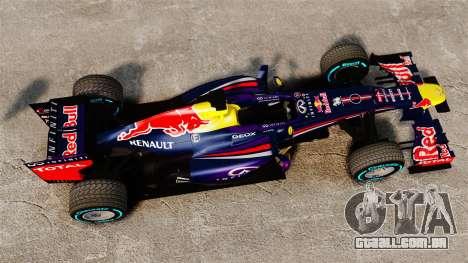 Carro, Red Bull RB9 v1 para GTA 4 vista direita