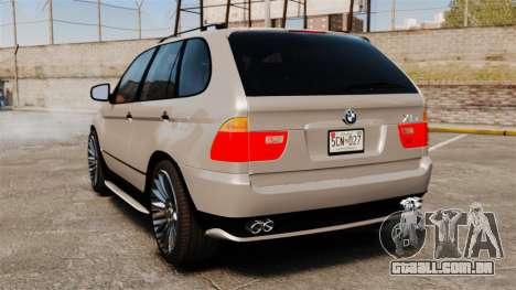 BMW X5 4.8iS v2 para GTA 4 traseira esquerda vista