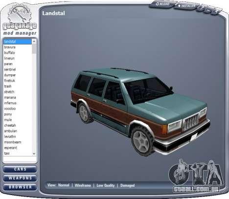 GTA Garage Mod Manager version 1.7 (270805) para GTA San Andreas