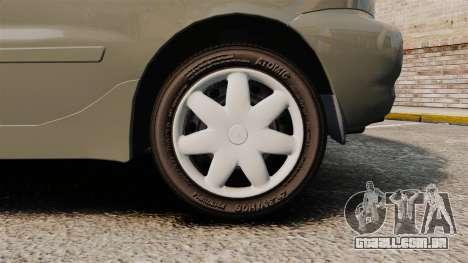 Daewoo Lanos FL 2001 para GTA 4 vista de volta