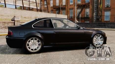 BMW M3 Coupe E46 para GTA 4 esquerda vista
