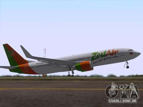 Boeing 737-800 Zest Air para GTA San Andreas interior