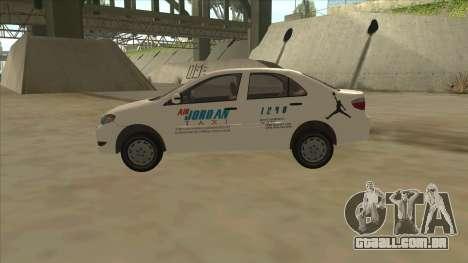 Toyota Vios AIR JORDAN TAXI of Cagayan De Oro para GTA San Andreas esquerda vista