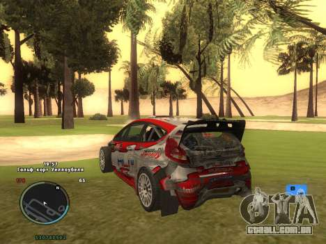 Ford Fiesta RS WRC para GTA San Andreas vista superior