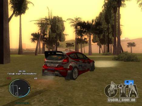 Ford Fiesta RS WRC para GTA San Andreas interior