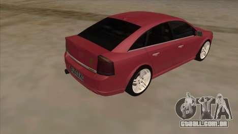 Opel Vectra C Irmscher para GTA San Andreas vista direita