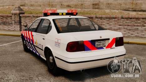 Polícia holandesa para GTA 4 traseira esquerda vista