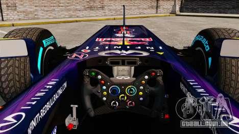 Carro, Red Bull RB9 v1 para GTA 4 vista de volta