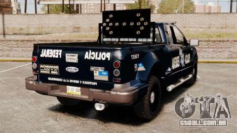 Ford F-150 De La Policia Federal [ELS & EPM] v3 para GTA 4 traseira esquerda vista