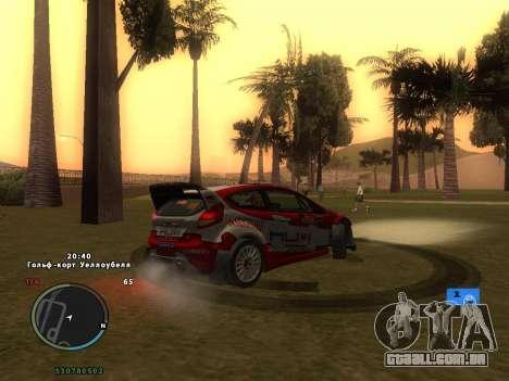 Ford Fiesta RS WRC para o motor de GTA San Andreas