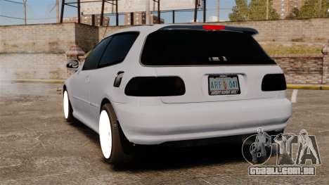 Honda Civic Gtaciyiz para GTA 4 traseira esquerda vista