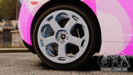 Lamborghini Gallardo 2005 [EPM] Pink Camo para GTA 4 vista de volta