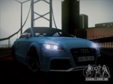 Audi TT RS 2013 para GTA San Andreas traseira esquerda vista