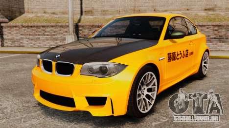 BMW 1M Coupe 2011 Fujiwara Tofu Shop Sticker para GTA 4
