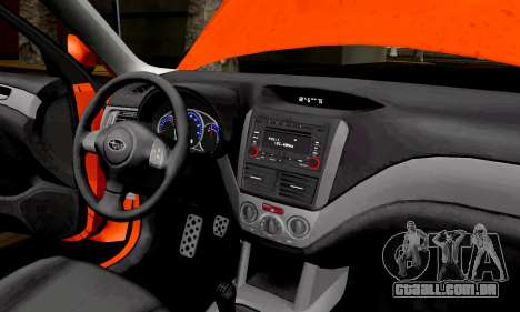 Subaru Forester RRT Sport 2008 v2.0 para GTA San Andreas vista traseira