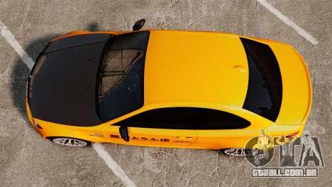 BMW 1M Coupe 2011 Fujiwara Tofu Shop Sticker para GTA 4 vista de volta