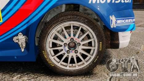 Ford Focus RS Martini WRC para GTA 4 vista de volta