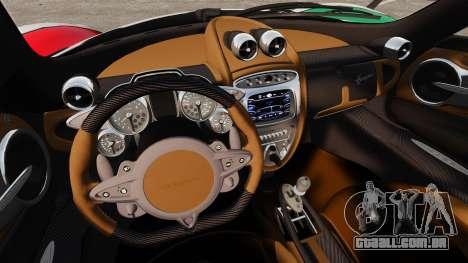 Pagani Huayra 2011 [EPM] Italian para GTA 4 traseira esquerda vista