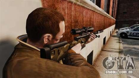 Rifle de sniper L115A1 AW com um silenciador v10 para GTA 4 segundo screenshot