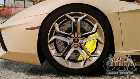 Lamborghini Aventador LP700-4 2012 v2.0 para GTA 4 vista de volta