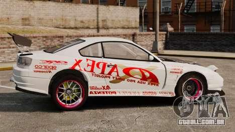 Nissan S330SX GT para GTA 4 esquerda vista